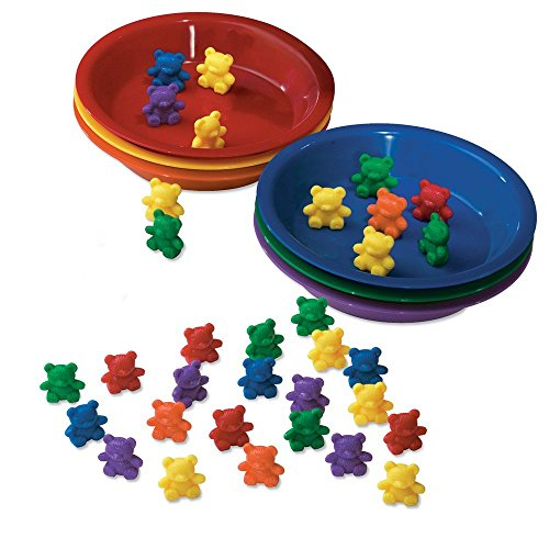 Learning Resources Baby Bear Sorting Set, Counting and Sorting Toys, Baby Bear Counters, Sorting Bears, 108 Pieces, Ages 3+