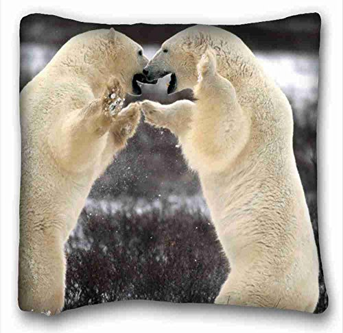 Generic personalizado (animales aves águila calva en vuelo Alaska) Custom de algodón y poliéster suave Rectángulo funda de almohada, 16x 16Inches (un lado) apto para dobles pc-red-2982