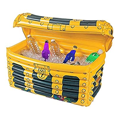 Graysky Summer Beach Creative Cooler Ice Bucket Bottle Holiday Party Bar Supplies Pool PVC Inflatable Treasure Box Pipe Heat Cables (Yellow)
