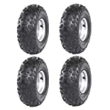 ZXTDR Set of 4 ATV Go Kart Tires 145/70-6 with 6 inch Wheels Rims