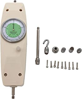 Beslands Force Gauge Tester Hochpr/äziser Push-Pull-Dynamometer NK-500 Tragbarer Zeiger Druckmesser Spannmesser Kraftpr/üfer 0~500 N