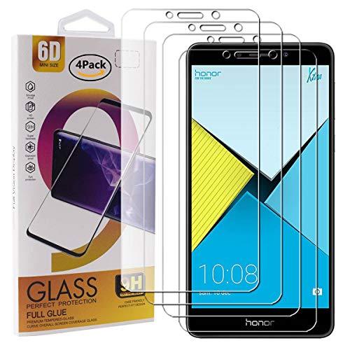 Guran 4 Paquete Cristal Templado Protector de Pantalla para Honor 6X / 6X Pro Smartphone 9H Dureza Anti-Ara?azos Alta Definicion Transparente Película