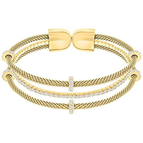 Swarovski Damen-Armreif Gate teilvergoldet Kristall weiß 4.3 cm - 5295055