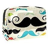 Bolsa de cosméticos para Mujeres Barba Colorida Bolsas de Maquillaje espaciosas Neceser de Viaje Organizador de Accesorios