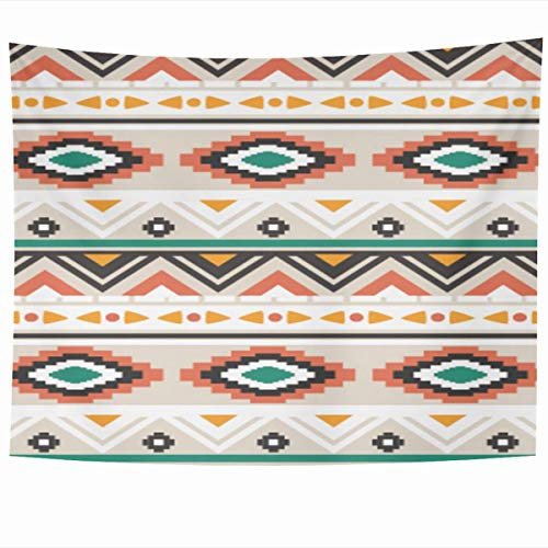 FPDecor Tapisserie Wandbehang Wandteppiche,80 x 60 Inches Art Green Aztec Ethnic Pattern Abstract Pink Navajo Peru Chevron Native American Home Tapestries Office Bedroom Living Room Dorm