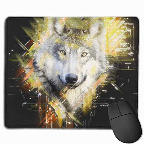 GFFD Bozal Nombre del Lobo Alfombrilla de ratón Alfombrilla para Hombre Accesorios de Escritorio para Mujer Suministros de Oficina