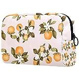Bolsa de cosméticos exuberante ombligo naranja adorable esp