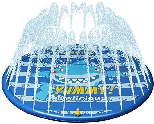 Rociadores y Splash Escuchar Escuchar Mat Agua Splash Pad Mat Espolvorear la lectura de piscina for los niños pequeños for niños de verano al aire libre Jardín familiares Actividades Juguetes de agua