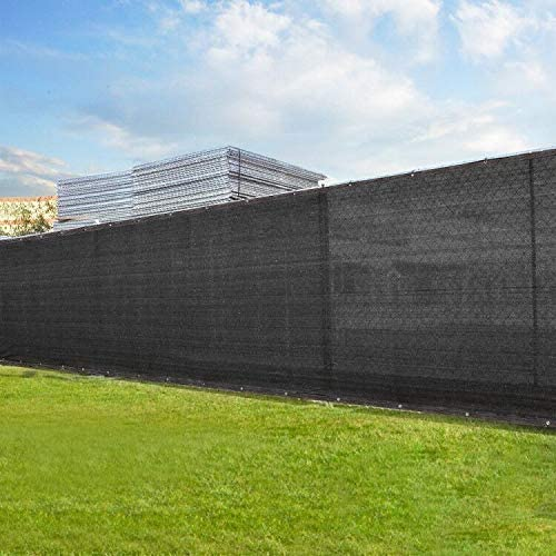 Shikha Limited time sale Max 58% OFF 8' x 50' Black Fence Gromm Screen with Privacy Bindings
