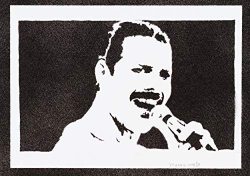 Freddie Mercury Poster Queen Plakat Handmade Graffiti Street Art - Artwork