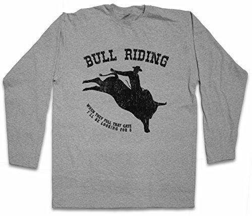 Urban Backwoods Bull Riding Long Sleeve T-Shirt De Manga Larga