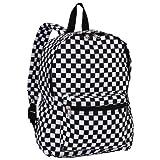 Everest Luggage Multi Pattern Backpack, Checkered, Medium