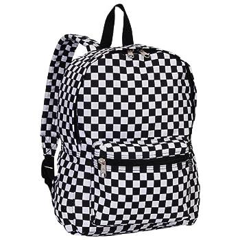 Everest Luggage Multi Pattern Backpack Checkered Medium