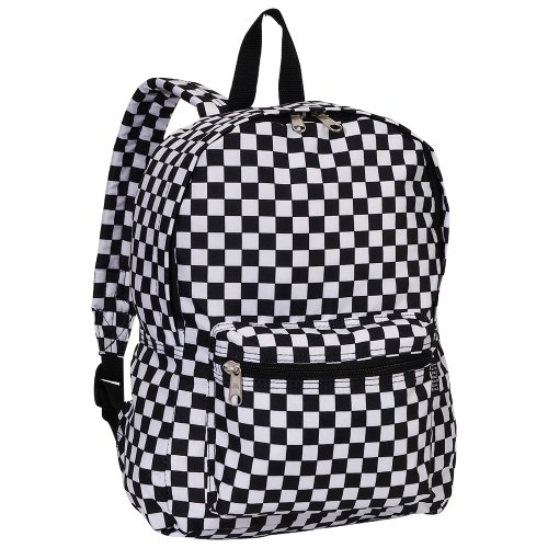 Everest Luggage Multi Pattern Backpack, Checkered, Medium