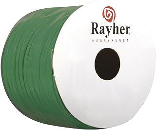 Rayher 5116013 Papierkordel mit Draht, 2 mm, Rolle 25 m, d.grün