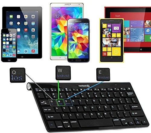 Navitech QWERTZ Wireless Bluetooth Keyboard/Tastatur für dasArchos Diamond Tab 10.1