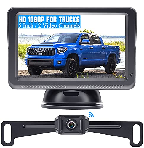 DoHonest S23 5 Inch HD 1080P Wireless Backup Camera 5'' Monitor Driving/Reversing Rear View Camera Kit with Stable Digital Signal for Trucks,Vans,Campers,SUVs Super Night Vision IP69K Waterproof