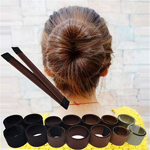 Losoul-Haarknoten-Maker – einfach zu verwendende Dutt-Haarspange für Strähnen und Haarspangen – perfektes DIY-Zubehör für Mädchen und Frauen