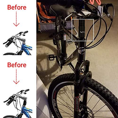 Lerway Fahrrad Höhen-Adapter Vorbauten Lenkererhöhung für Radsport Ahead Vorbau Mountainbike Legierung Aluminium 11/8″,117mm – Schwarz - 4