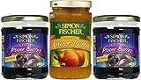 Simon Fischer Lekvar 18 oz Prune & 10.5 oz Apricot Butter, Fruit Butter - Variety Pack! Glass Jar, (Pack of 3, Total of 46.5 Oz)