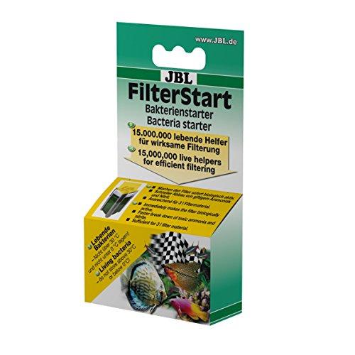 JBL FilterStart 25182, Bakterien zur Aktivierung von neuen und gereinigten Filtern für Süß- und Meereswasser Aquarien, Tropfen 10 ml