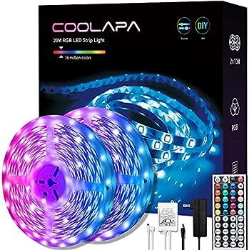 Coolapa 65.6FT, 360LEDs 5050 RGB Light Strips