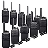 Retevis RT28 2 Way Radio Long Range,Two Way Radio Rechargeable,Walkie Talkie for Adults,VOX Emergency Alert USB Charger,Mini Portable Sturdy,Security Hotel Church(10 Pack)