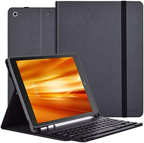 iPad 8th 7th Generation Case with Keyboard and Apple Pencil Holder Detachable Wireless Bluetooth product image