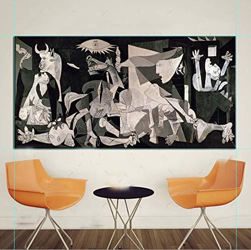 Kit de Pintura de Diamante Completo DIY 5D Talla Grande Diamond Painting Picasso Classic Guernica Germany Figure Rhinestone Bordado Punto de Cruz Arte Salón Decor de la Pared,Taladro redondo-80x220cm