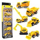 Dreamon Spielzeugautos Bagger Lastwagen LKW Baufahrzeuge Fahrzeuge Spielzeug Set Mini Cars für...