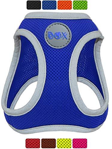 DDOXX Brustgeschirr Air Mesh, Step-In, reflektierend, verstellbar, gepolstert   viele Farben & Größen   für kleine & mittlere Hunde   Hunde-Geschirr Hund Katze Welpe   Katzen-Geschirr   Blau, L