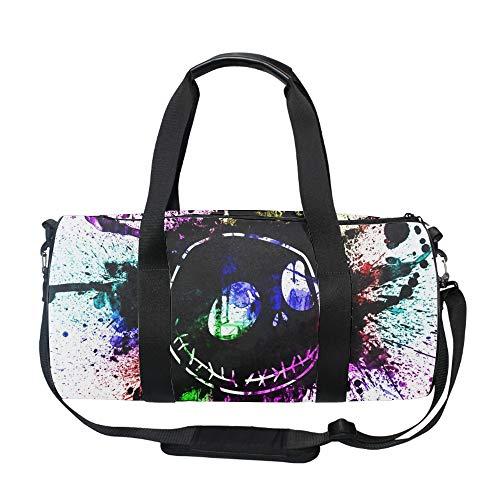 Gym Bag with Shoe Compartment Men Duffel Bag, Medium, Nightmare Before Christmas