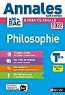Annales ABC du Bac 2022 - Philosophie Term par Durozoi