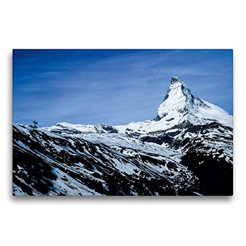 Premium Textil-Leinwand 75 x 50 cm Quer-Format Matterhorn   Wandbild, HD-Bild auf Keilrahmen, Fertigbild auf hochwertigem Vlies, Leinwanddruck von Ulrike Steinbrenner