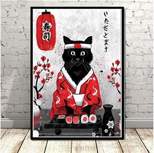 Wandkunst Leinwand Gemälde Japanische Samurai Geisha Und Maiko Poster Leinwanddrucke Wandbilder Wohnzimmer Dekor 50 * 70Cm No Frame