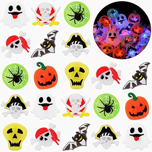 50 Pièces Halloween Noël Bague Lumineux Bague Lumineux LED J