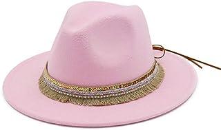 SHENTIANWEI New Women Fedora Hat Wool Khaki Jazz Hats Female National Casual Large Brim Vintage Autumn Classic Felt Hat And Cap