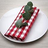 FILU Tovaglioli (Set di 8, Rosso/Bianco) 100% Cotone