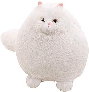 ペルシャ猫 ぬいぐるみ もこもこ ロングテール かわいい リアル 人形 太った猫 抱き枕 女の子 誕生日 プレゼント 生き生き ニャンコ 置物 白 ふわふわ でかいしっぽ マスコット ホワイト 30/50cm