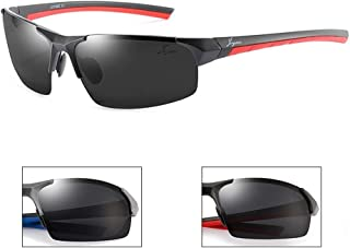 ZMP Aluminum-Magnesium Polarized Sports Sunglasses Frameless Ultra-Light Lens Sunglasses (Color : 2)