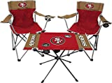 Rawlings NFL 3-Piece Tailgate Kit, 2 Gameday Elite Chairs and 1 Endzone Tailgate Table, San Francisco 49ers