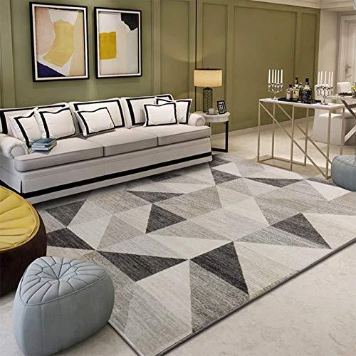 GSOLOYL Geometrische Teppiche Wohnzimmer Schlafzimmer Arbeitszimmer Bettvorleger Rechteck modernen Dekor Teppich Haushalt Sofas Yoga 3D-Decken-Matte (Size : 80 X 120 cm)