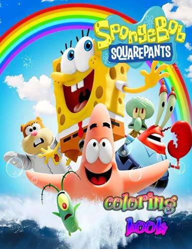 Spongebob Squarepants Coloring Book: Awesome SpongeBob SquarePants Colouring Book | Awesome Illustrations: Gary, Plankton, Karen, Mr. Krabs, Sandy, SpongeBob, Patrick, Squidward, Mrs. Puff and Pearl