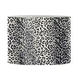 LedBack Black Leopard Print Lampshade for Bedroom ,Living Room Floor Lamps Cover Barrel Shape Table Light Covers SML Size