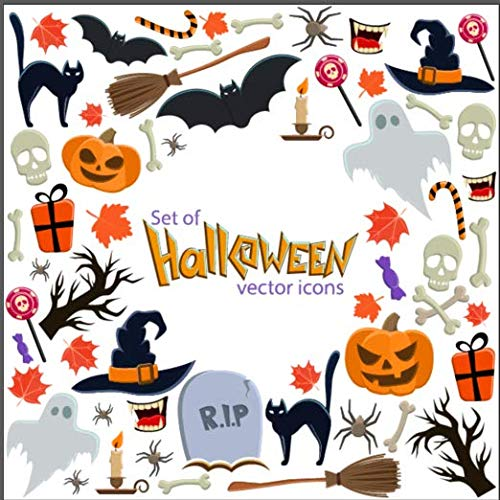 Kesote Aufkleber Halloween Fenster Sticker Fensterbild Statisch Wandaufkleber Party Dekoration Herbstdeko (ca. 85 Stück)