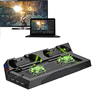 PS5 Accessories Vertical Cooling Stand Fan Dual Controller Charger with Charging Cable for Playstation 5 Console Original