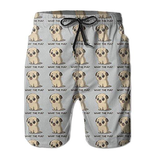 Qpkia Pug What I AM Men Surf Swim Trunk Pants Pocket