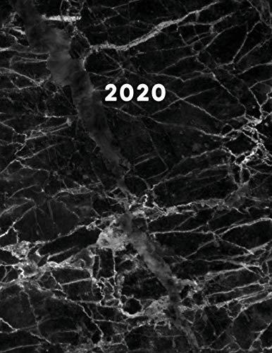 Planner 2020: Agenda Planner Semanal e Mensal - Mármore Preto e Grande A4 21 x 28 com Calendário e Lista de Tarefas. Perfeito para organização diária ou Journal. BÔNUS: 3° Trimestre de 2019 incluso.