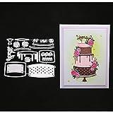 N/B Metal DIY Troquelado Tarjeta de Estampado Troquelado Scrapbooking Álbum Tarjetas de Papel Arte Artesanía Plantillas Scrapbooking (Color 15)