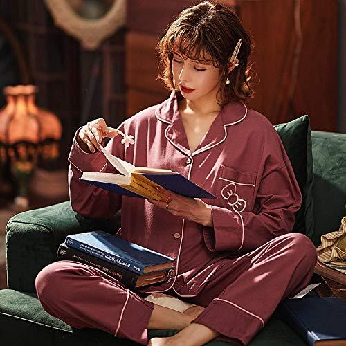 B/H Pijamas navideños Conjunto Familiar,Pijamas de Ropa de hogar de Talla Grande de algodón de Invierno para Mujer, 33260_M,Pijamas de Franela Suave Cálida Ropa